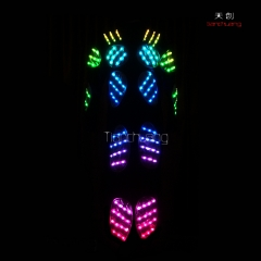 Tc-014 luces LED DMX traje Tron Dance Performance